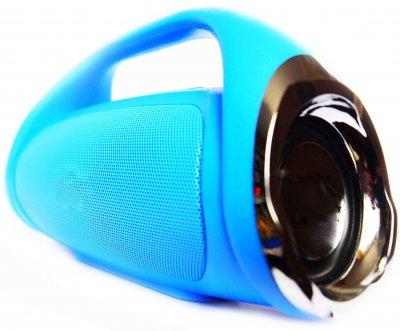 Портативна бездротова Bluetooth стерео колонка T&G Mini Boombox Синя (Boombox mini Blue)