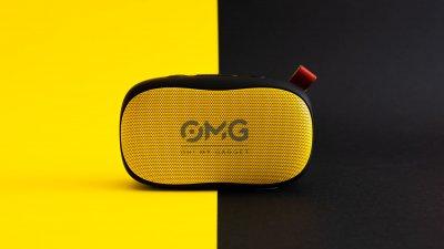 Портативная колонка OMG To GO 900 Portable Bluetooth Speaker Black-Yellow (черный-желтый)