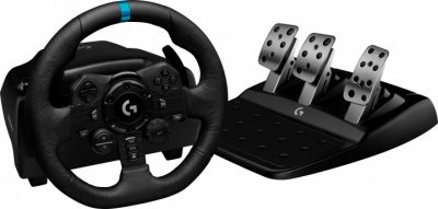 Комплект 3 в 1 Logitech дротове кермо G923 Racing Wheel and Pedal (941-000149) + коробка передач Driving Force Shifter (941-000130)