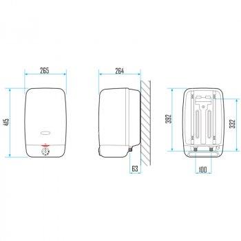 Електричний бойлер під мийку Aquahot 10 л AQHEWHV10ASS білий (56165)
