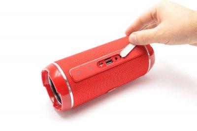 Портативна бездротова bluetooth стерео колонка вологостійка T&G Flip 6 Червона (Flip 6 Red)