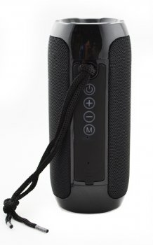 Портативна бездротова Bluetooth стерео колонка T&G 117 Flip Чорна (117 Black)