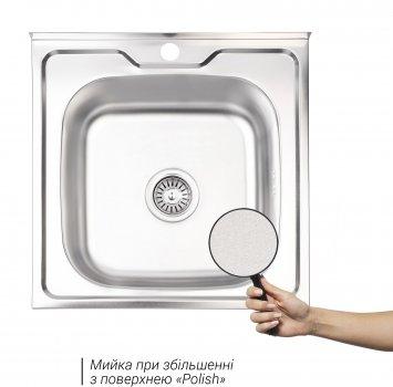 Кухонная мойка LIDZ 5050 Polish 0.6 мм (LIDZ5050POL06)