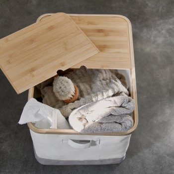 Коробка IKEA (ІКЕА) RABBLA 35х50х30см коричнева бежева (403.481.26)