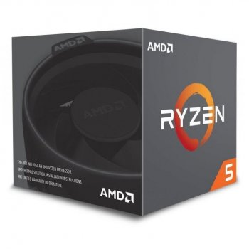 AMD AM4 Ryzen 5 2600 3400MHz - 16MB Cache - 65W, BOX, Pinnacle Ridge