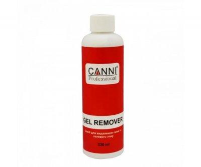 Рідина для зняття гель лаку Canni, Gel remover, 220 мл