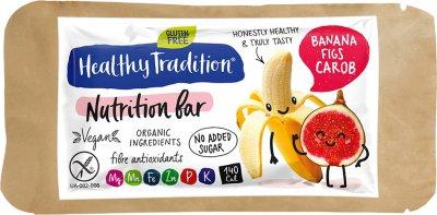Упаковка батончиков Healthy Tradition Nutrition bar Банан, инжир и кероб 34 г x 10 шт (4820192430265)