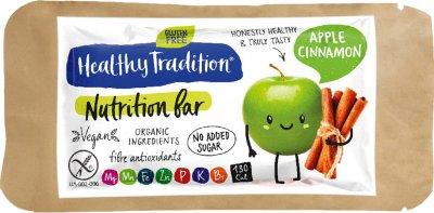 Упаковка батончиков Healthy Tradition Nutrition bar Яблоко и корица 34 г x 10 шт (4820192430258)