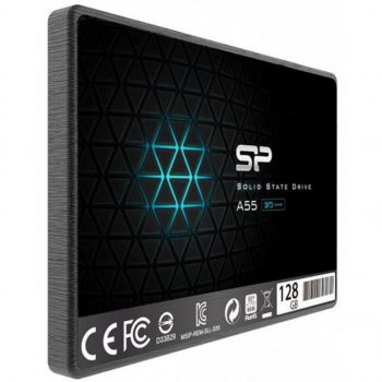 """Накопичувач SSD 2.5"""" SATA Silicon Power 128GB A55 (SP128GBSS3A55S25)"""