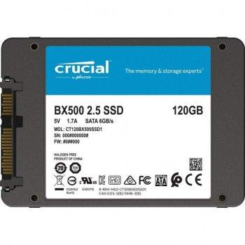 """Накопичувач SSD 2.5"""" 120GB SATA Crucial BX500 (CT120BX500SSD1)"""