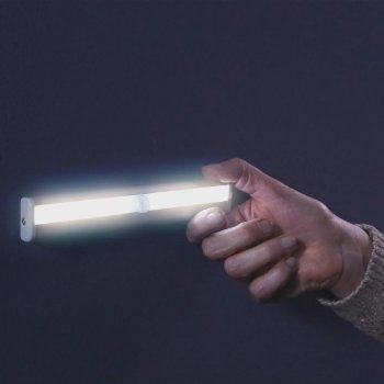 Бездротовий LED світильник Motion Brite | Світлодіодний світильник на батарейках