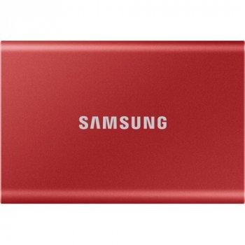 Зовнішній SSD накопичувач SAMSUNG T7 500GB USB 3.2 GEN.2 RED (MU-PC500R/WW)