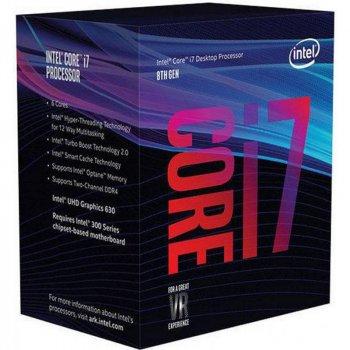 Процесор Intel Core i7 8700 3.2 GHz (12MB, Coffee Lake, 65W, S1151) Box (BX80684I78700)
