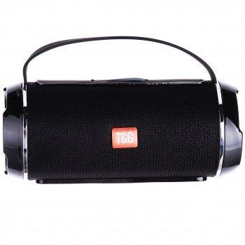 Портативна bluetooth стерео колонка вологостійка T&G 116C з силіконовою ручкою Чорна (116 З Black)