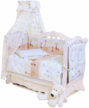Комплект постільної білизни Twins Comfort С-024 Жирафи 90x120 (5900009398014)