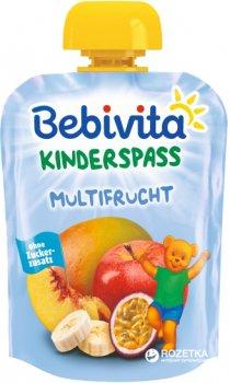 Упаковка фруктового пюре Bebivita Мультифрукт з 12 місяців 90 г х 16 шт. (4018852016908)