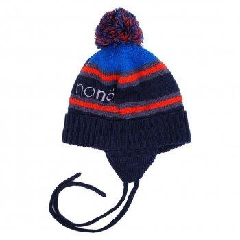 Зимняя вязаная шапка NANO F16TC267-Navy сине-красный 51-53 см (F16TC267-Navy-4/6x)