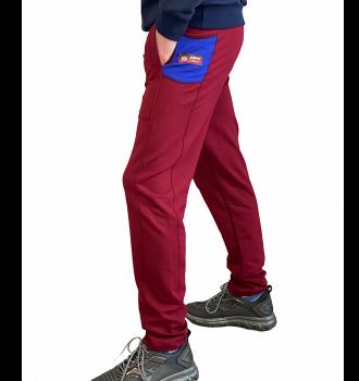 Спортивні штани чоловічі 8506 SAMO бордо