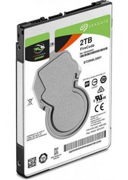 """Накопитель HDD 2.5"""" SATA 2.0Tb Seagate FireCuda SSHD 5400rpm 128MB (ST2000LX001)"""