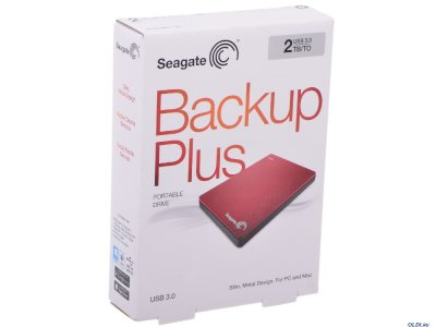"""Накопичувач зовнішній 2.5"""" USB 2.0 Tb Seagate Backup Plus Portable RED (STDR2000203)"""
