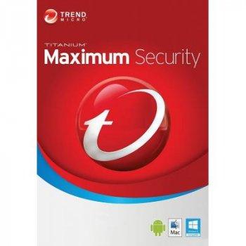 Антивірус Trend Micro Maximum Security 2019 5ПК, 24 month(s), Multi Lang, Lic, New (TI10974351)