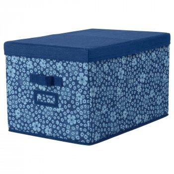 Коробка IKEA STORSTABBE 35x50x30 см з кришкою синя 203.954.06