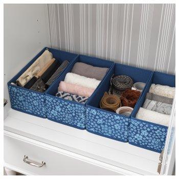 Набір коробок для зберігання IKEA STORSTABBE 20x37x15 см 2 шт сині 103.954.02