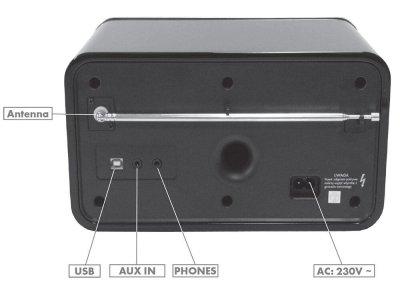 Радіогодинник Grundig (TR 2200) DAB White ReTro