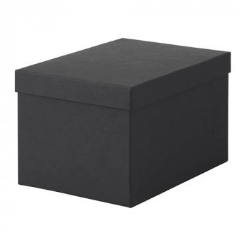 Контейнер з кришкою IKEA TJENA 18x25x15 см чорний 603.954.85