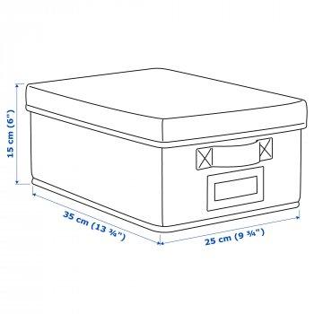 Коробка с крышкой IKEA STORSTABBE 25x35x15 см синяя 503.983.52