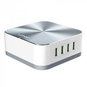Сетевое Зарядное Устройство USB LDNIO A8101 (Серый)