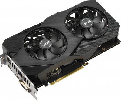 Asus PCI-Ex GeForce GTX 1660 Dual EVO OC 6GB GDDR5 (192bit) (1500/8002) (1 x DisplayPort, 1 x HDMI, 1 x DVI) (DUAL-GTX1660-O6G-EVO)
