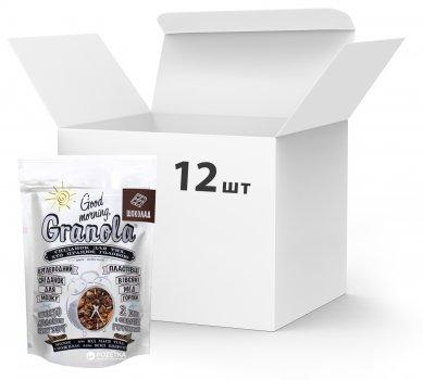 Упаковка сухих завтраков Good morning Granola С шоколадом 330 г х 12 шт (24820192180034)