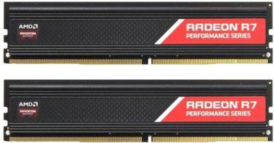 Оперативная память AMD DDR4-2400 8192MB PC4-19200 (Kit of 2x4096) R7 Performance Series (R7S48G2400U1K)