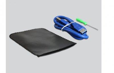 Корпус накопичувача Delock USB3.0 A-SATA 22p корпус HDD 2.5 Aluminium 2TB білий(70.04.2486)
