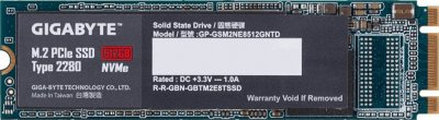 Накопичувач SSD M. 2 512GB GigaByte (GP-GSM2NE8512GNTD)