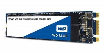 Накопичувач SSD 250GB WD Blue M. 2 2280 SATAIII 3D TLC (WDS250G2B0B)