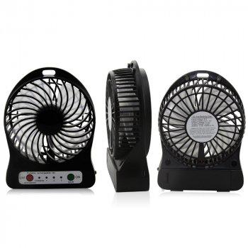 Мини-вентилятор Portable Fan Mini Plus, Аккумулятор, USB, 4 Вт, Черный