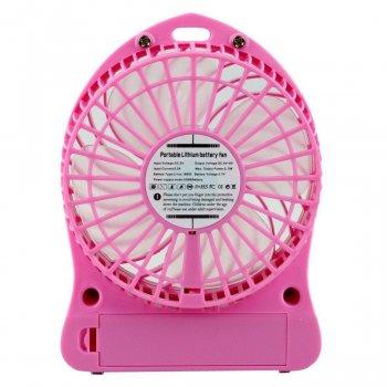 Portable Fan Mini Plus, мини-вентилятор аккумулятор, розовый
