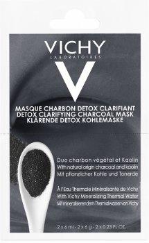 Маска-детокс Vichy с углем и каолином для глубокого очищения кожи лица 2х6 мл (3337875588768)