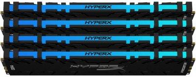 Оперативна пам'ять HyperX DDR4-3200 131072 MB PC4-25600 (Kit of 4x32768) Predator RGB (HX432C16PB3AK4/128)