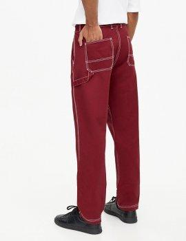 Брюки PULL & BEAR М0105764 (5679/514/681) цвет бордовый