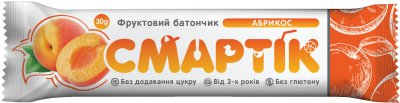 Упаковка фруктовых батончиков Смартік Абрикос 30 г х 12 шт (4820113925818)
