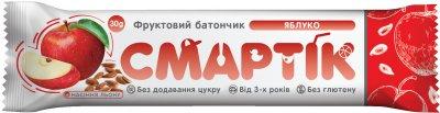Упаковка фруктовых батончиков Смартік Яблоко + семена льна 30 г х 12 шт (4820113925795)