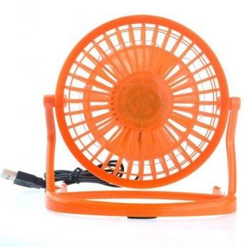 Настільний USB вентилятор Mini Fan Airflow CD-816 вентилятор для ноутбука 360° обертання портативний Помаранчевий