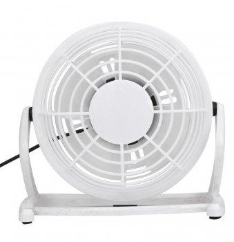 Настільний USB вентилятор Mini Fan Airflow CD-816 вентилятор для ноутбука 360° обертання портативний Білий