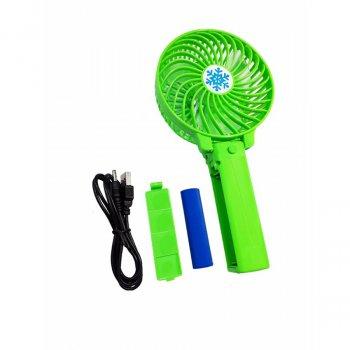 Ручний міні вентилятор Handy Fan Mini на акумуляторі USB діаметр 10 см Зелений
