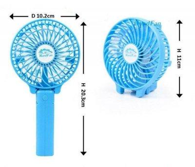 Ручний міні вентилятор Handy Fan Mini на акумуляторі USB діаметр 10 см Блакитний