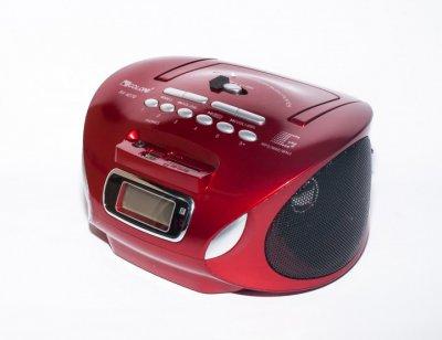 Магнитофон бумбокс колонка с пультом ДУ и радио Golon RX 627Q красный