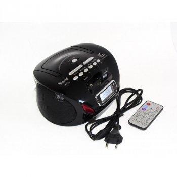 Магнитофон бумбокс колонка с пультом ДУ и радио Golon RX 627Q черный